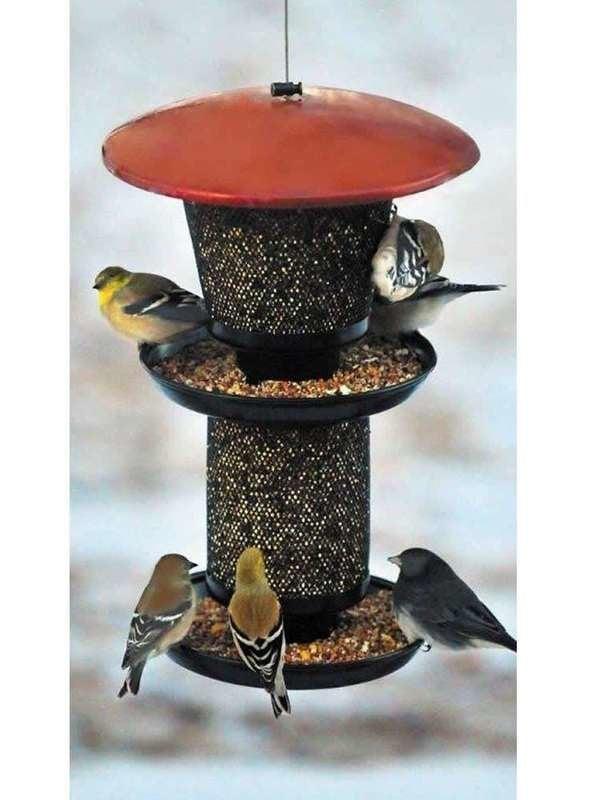 Multi Level Bird Feeder