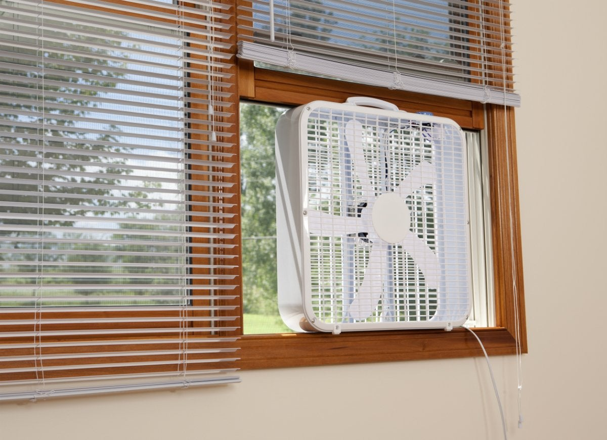 Cross ventilate with window fans
