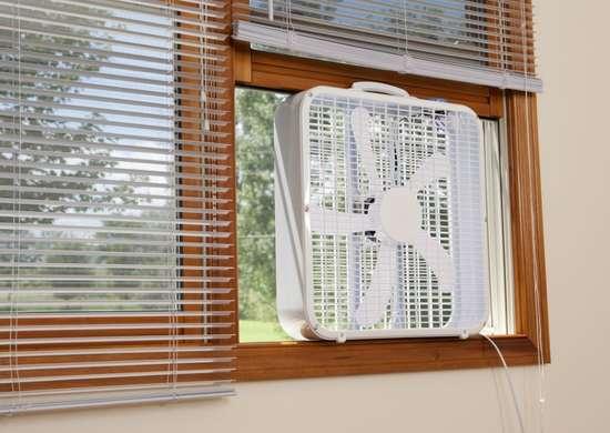 Cross ventilate with window fans