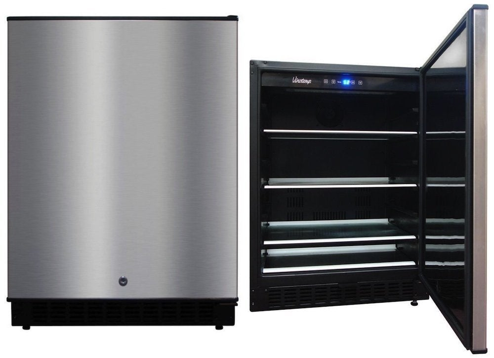 Vinotemp stainless steel outdoor refrigerator 8 best for Outdoor kitchen refrigerators built in