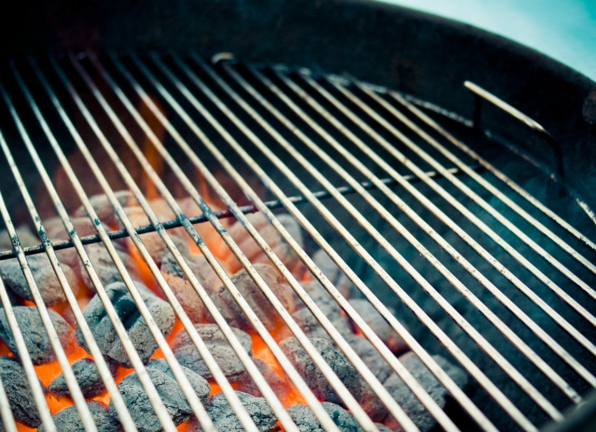 Separate your coals to control grilling temperature