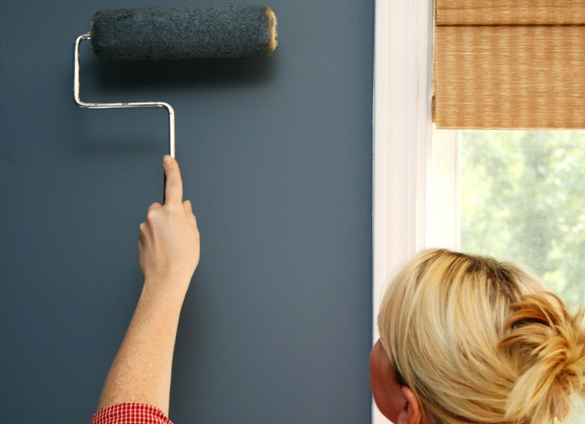 Paint roller wall