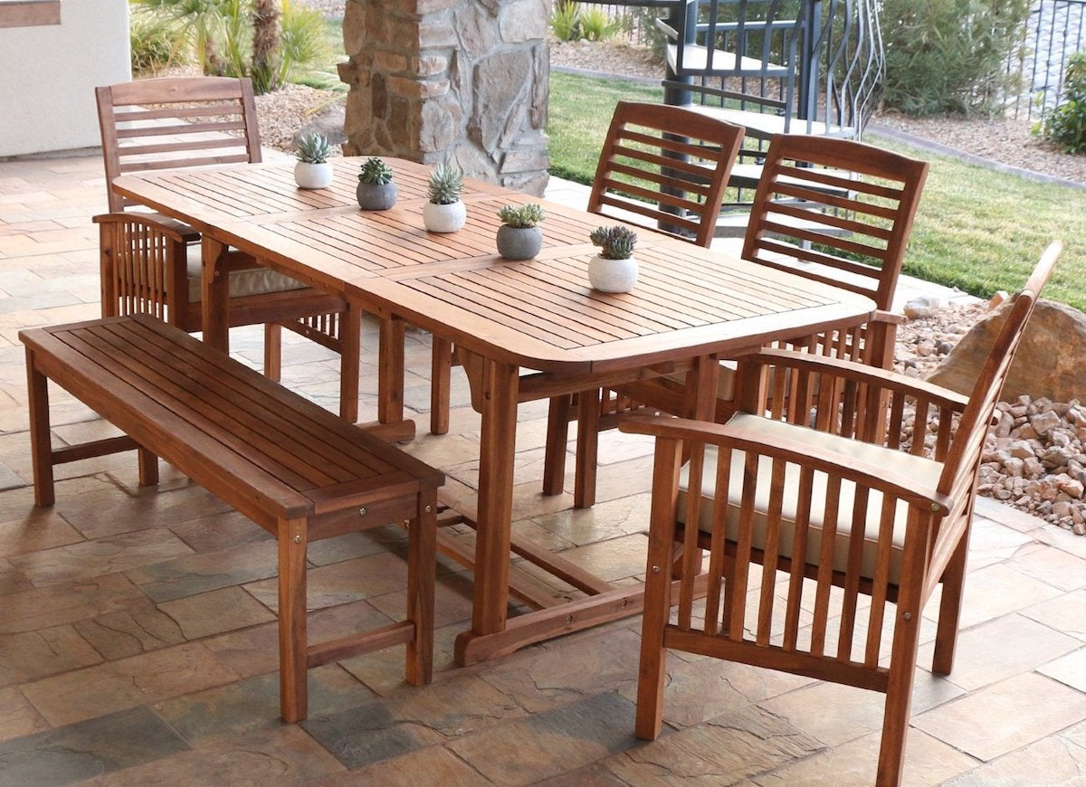 Acacia outdoor furniture set