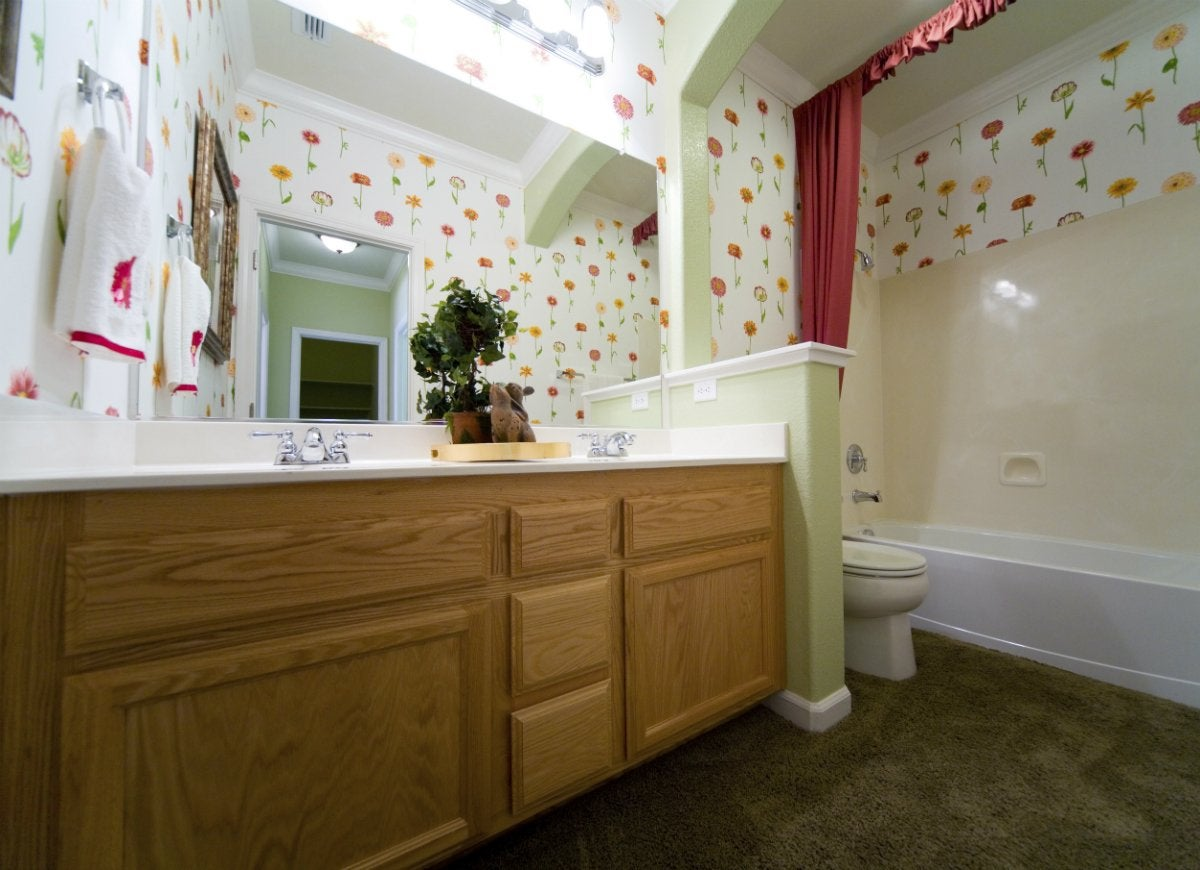 Bathroom carpeting