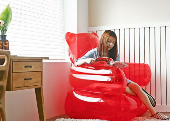 Inflatable furniture chair