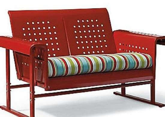 Grandinroad.com retro loveseat glider