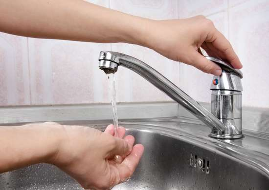 Turn on tap water to prevent frozen pipes