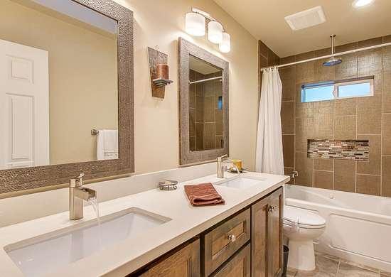 Update bathroom lighting