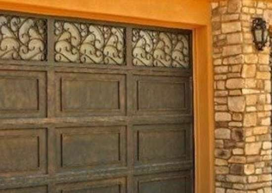 Amarr dynasty ornamental iron garage doors