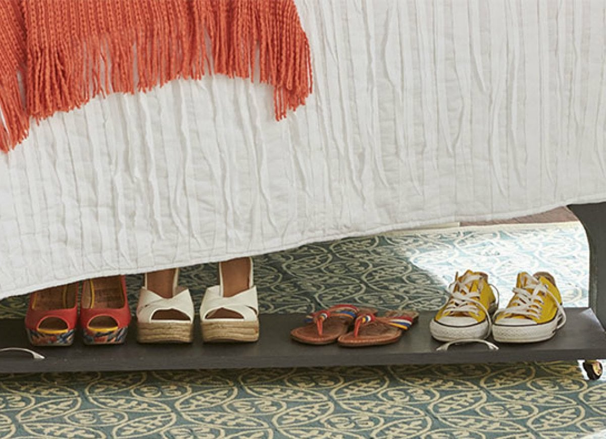 Diy rolling shoe storage