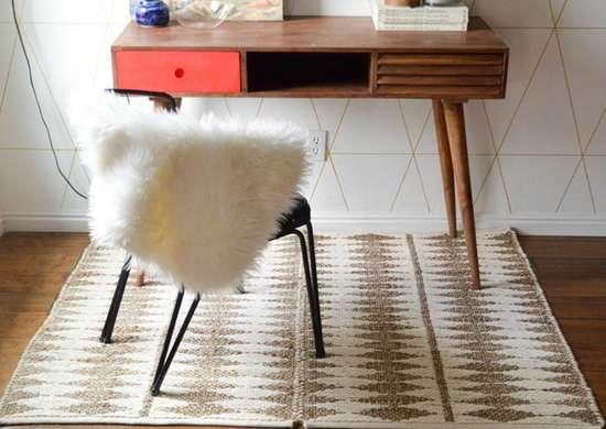 Diy area rug with paper clip