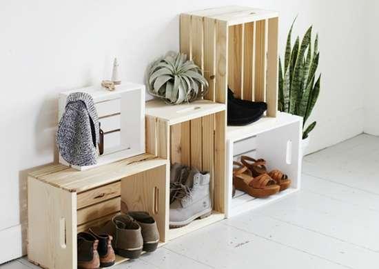 Diy-entryway-storage-wooden-crates