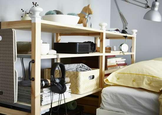 Use a Bookcase as a Headboard