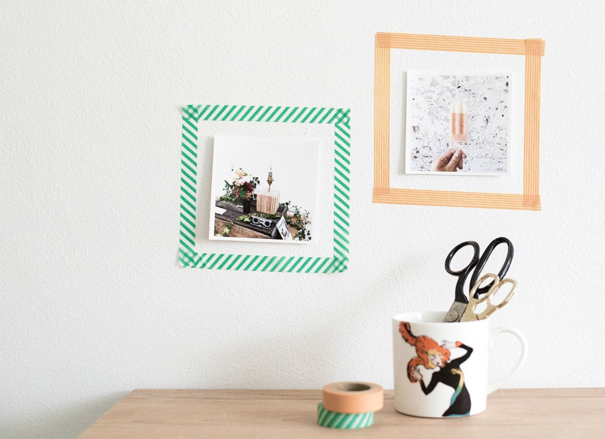 Diy washi tape photo frame