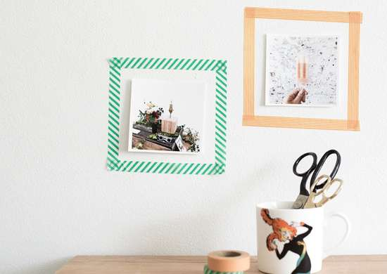 Frame Photos with Washi Tape