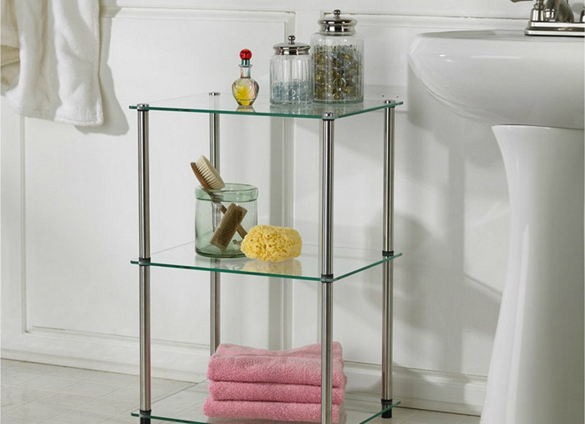 Three tier glass shelf target