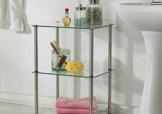 Three tier glass shelf target