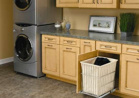 Laundry hamper drawer