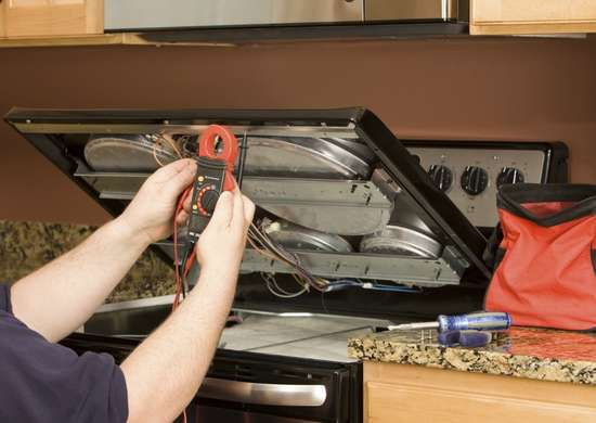 Installing gas kitchen range
