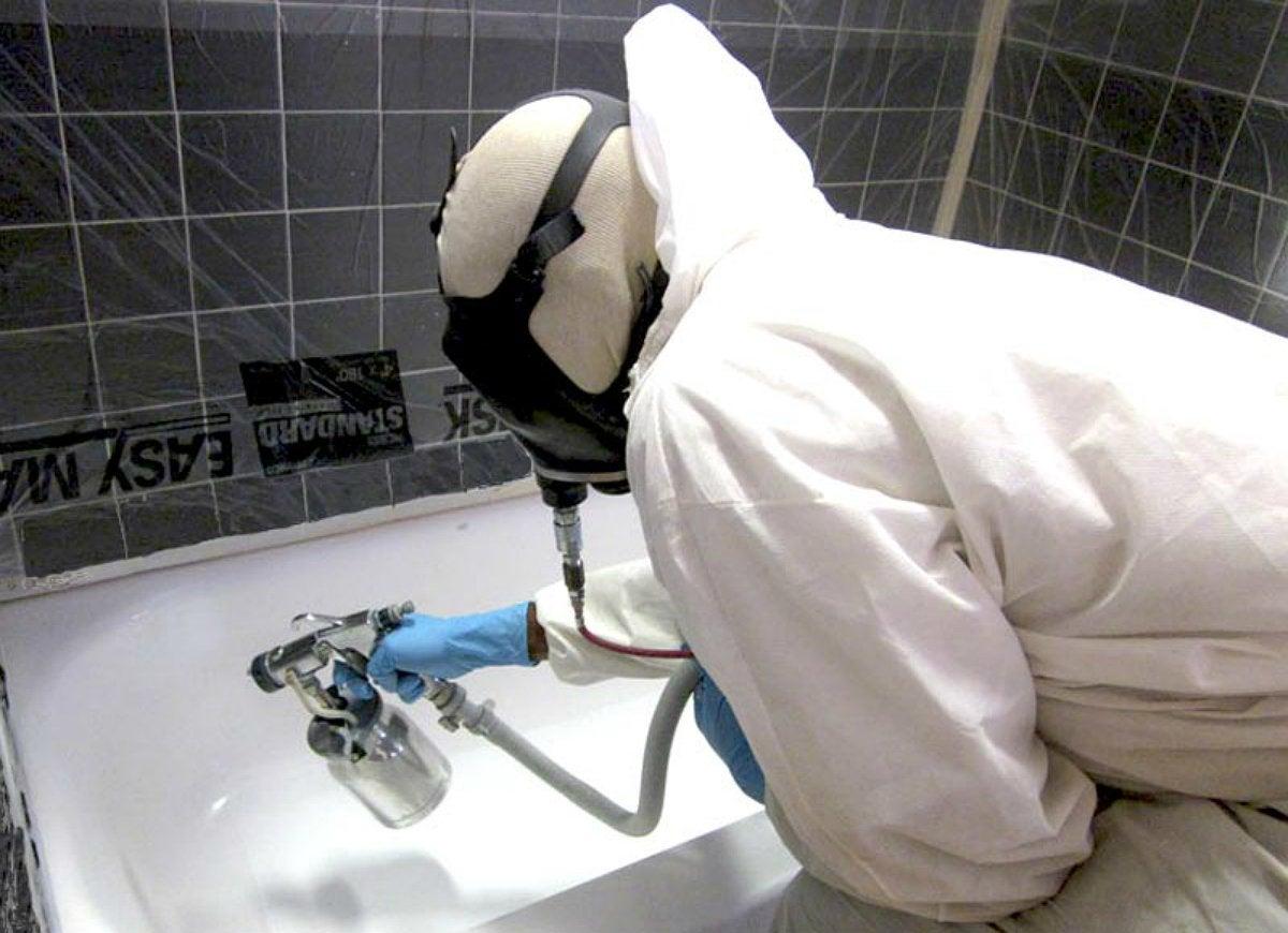 Refinish-bathtub
