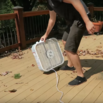 Clear Leaves with a Box Fan