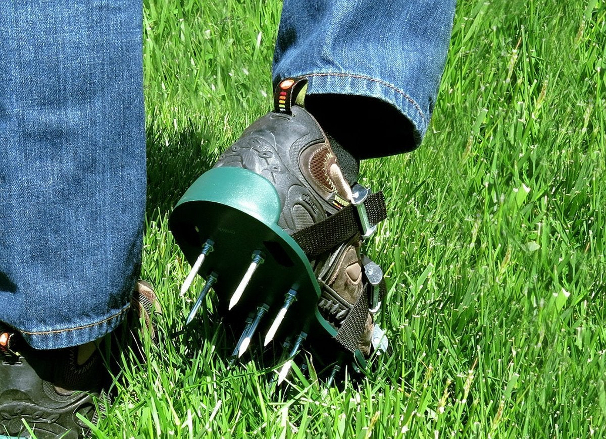 Aerate-lawn-shoes