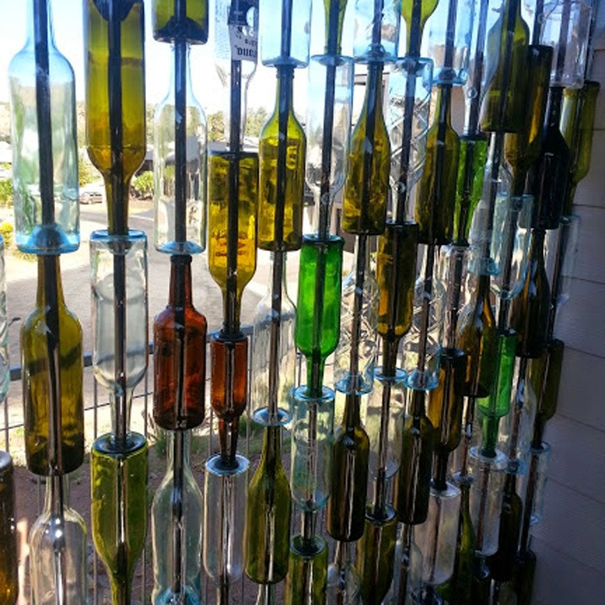 Wine bottle wall