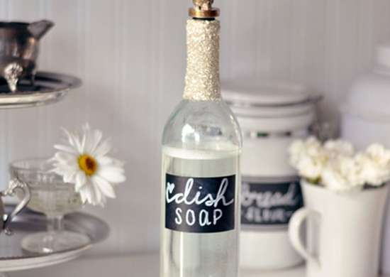 DIY Bottle Dish Soap Dispenser