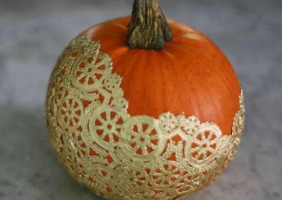 Doily lace pumpkin