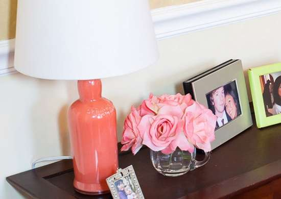 DIY Painted Bottle Lamp