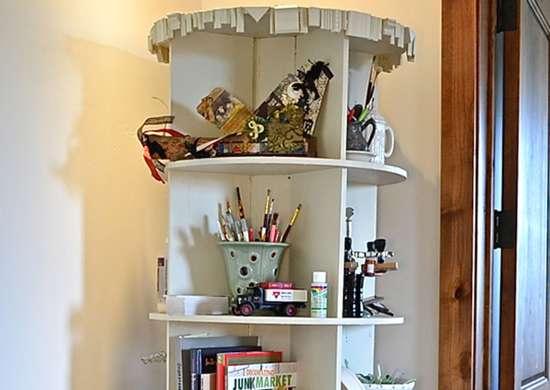 DIY Revolving Bookcase