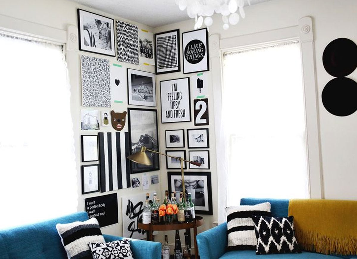 Gallery wall corner