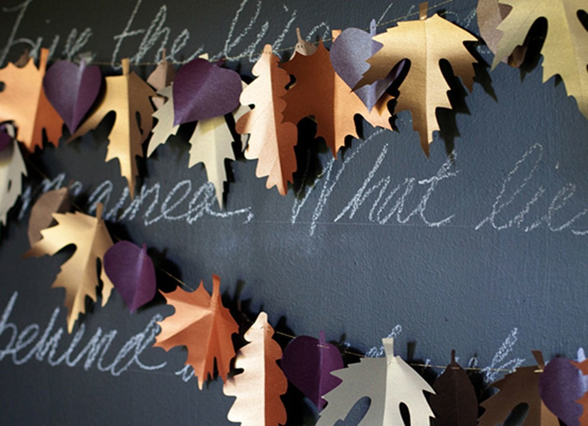 Diy-paper-leaf-garland