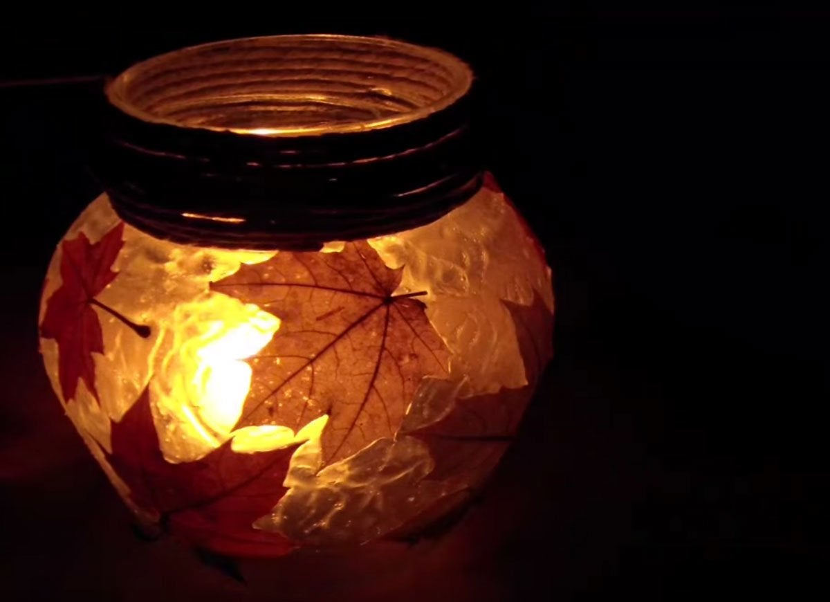 Diy autumn lantern
