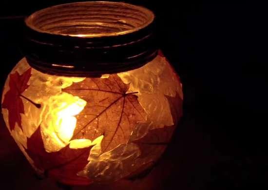 DIY Fall Lantern