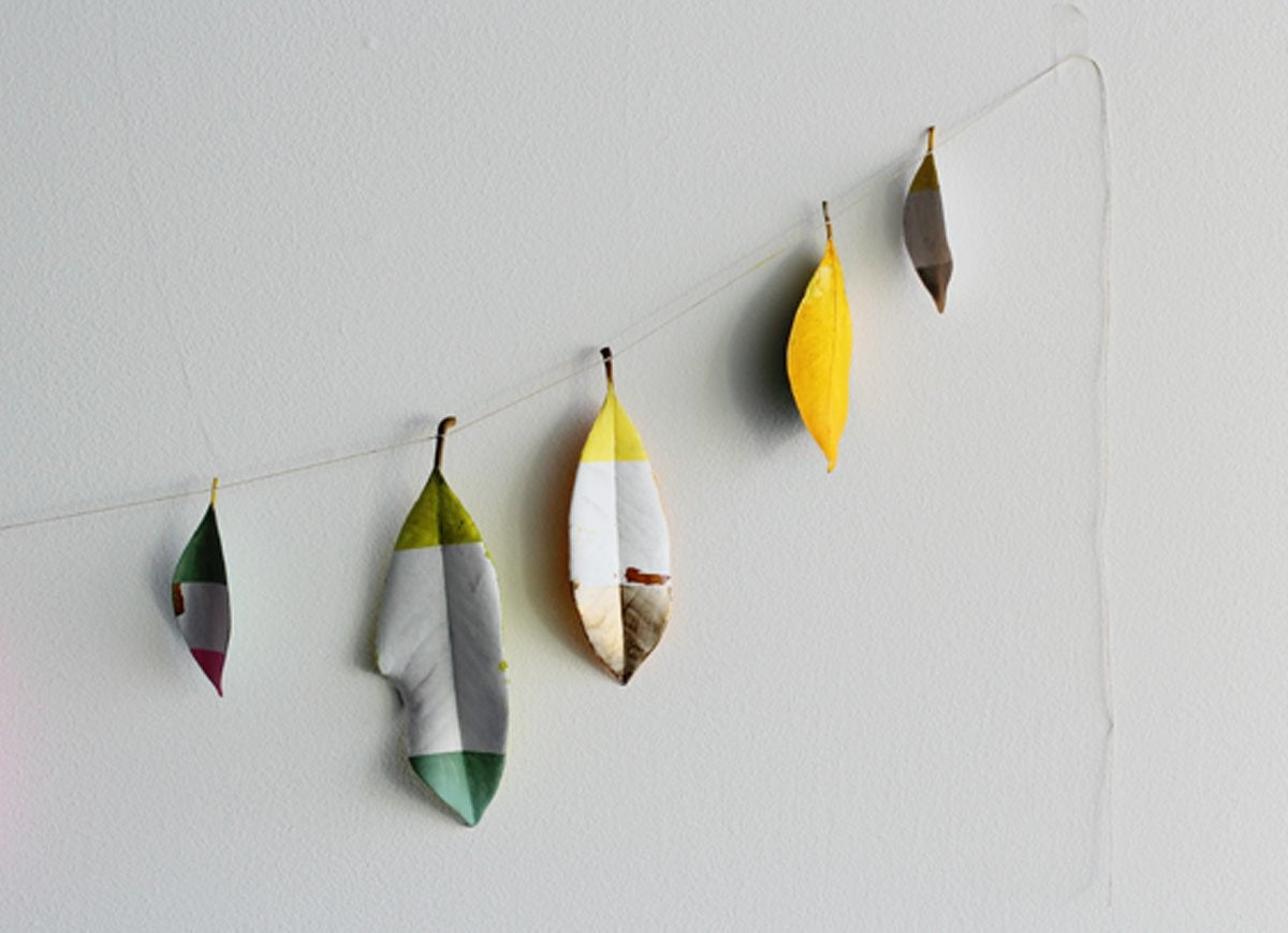Diy-painted-leaf-banner
