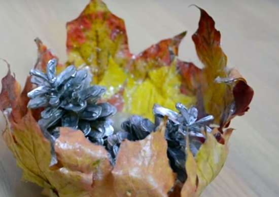 Diy-leaf-bowl