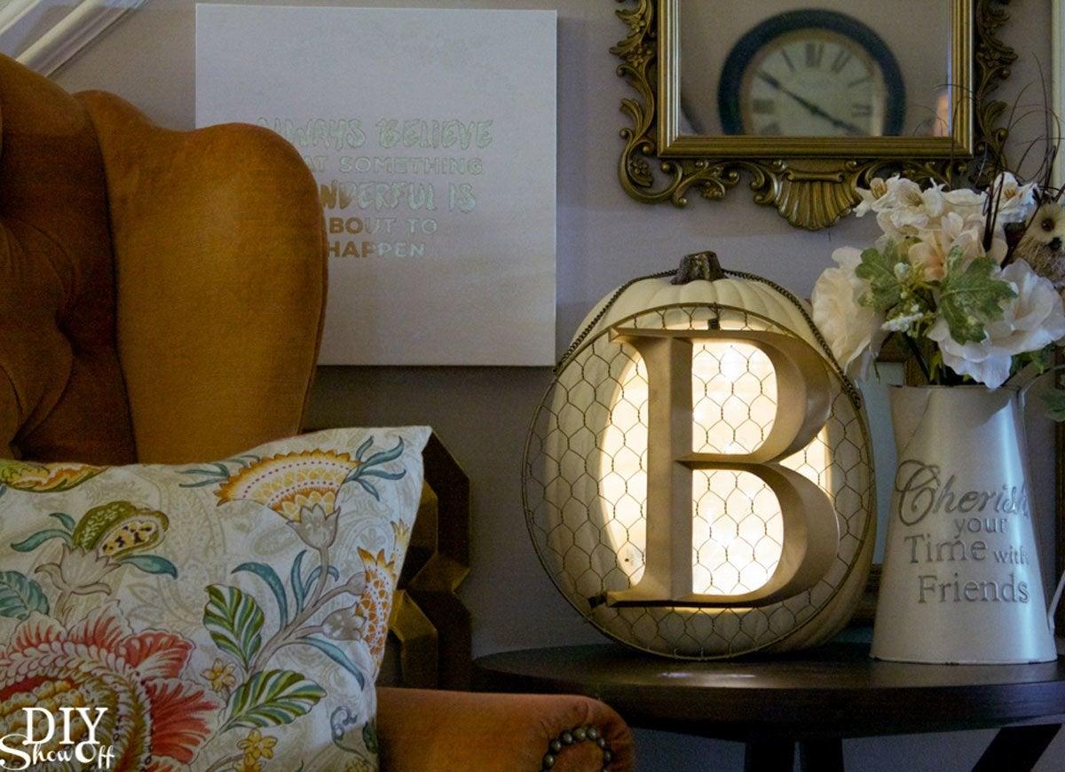 Pumpkin lamp