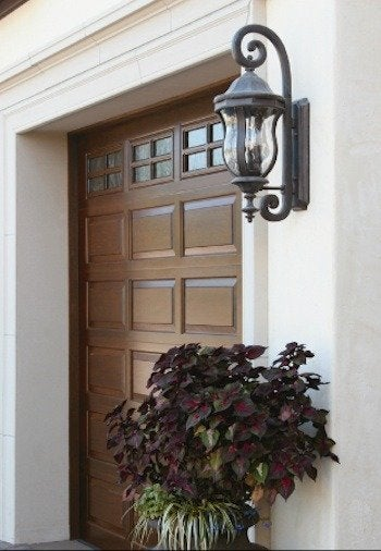 Clopay raised panel wood garage doors