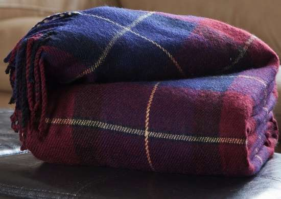 Plaid blanket fall decor