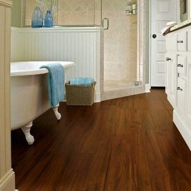 Laminate flooring bathroom floor tile 14 top options for Bathroom laminate flooring
