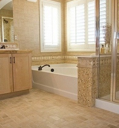 Bathroom floor tile 14 top options bob vila for Pictures of bathroom flooring ideas