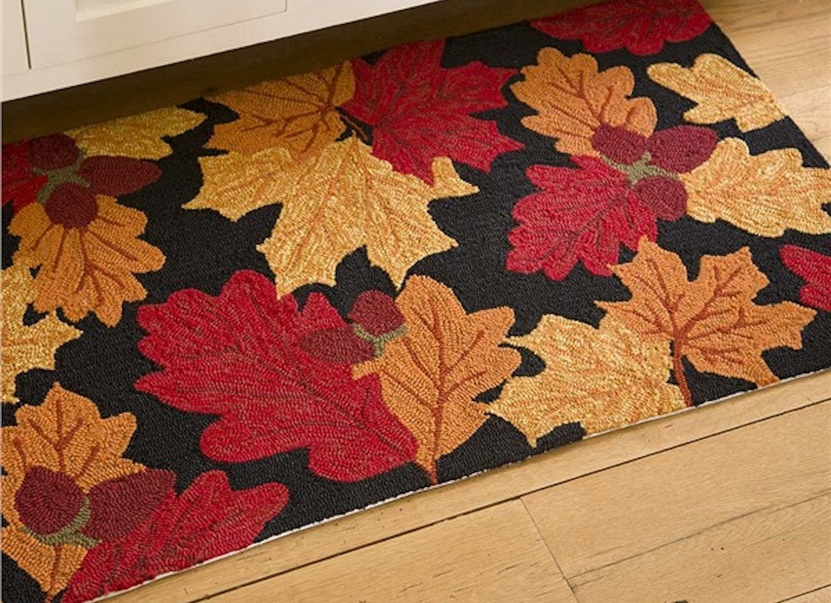 Fall leaf welcome mat