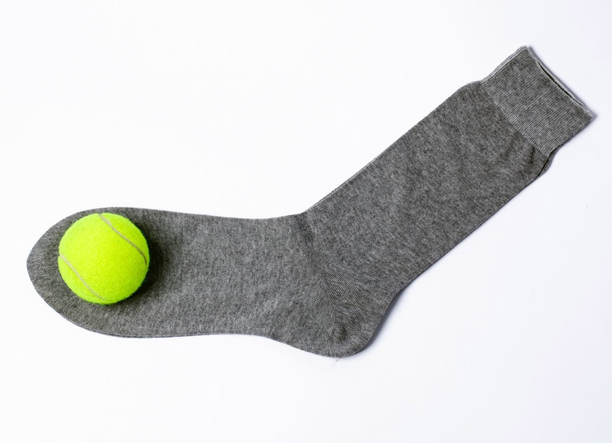 Tennis ball sock