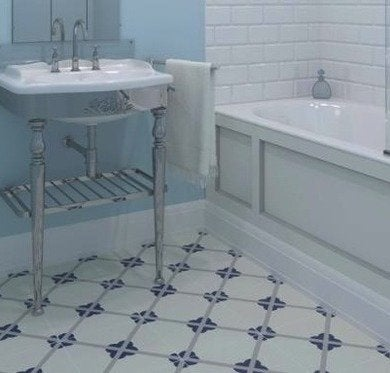 Linoleum flooring bathroom floor tile 14 top options for Tile linoleum bathroom