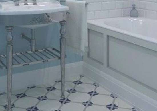 Freshhome linoleum bathroom flooring