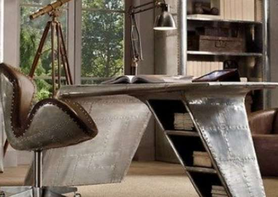 Restorationhardware aviator wing desk