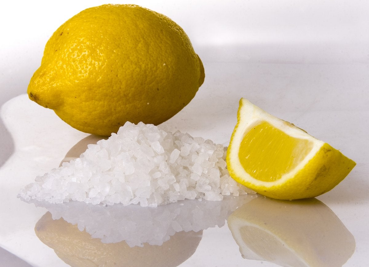 Lemon and salt cleaner