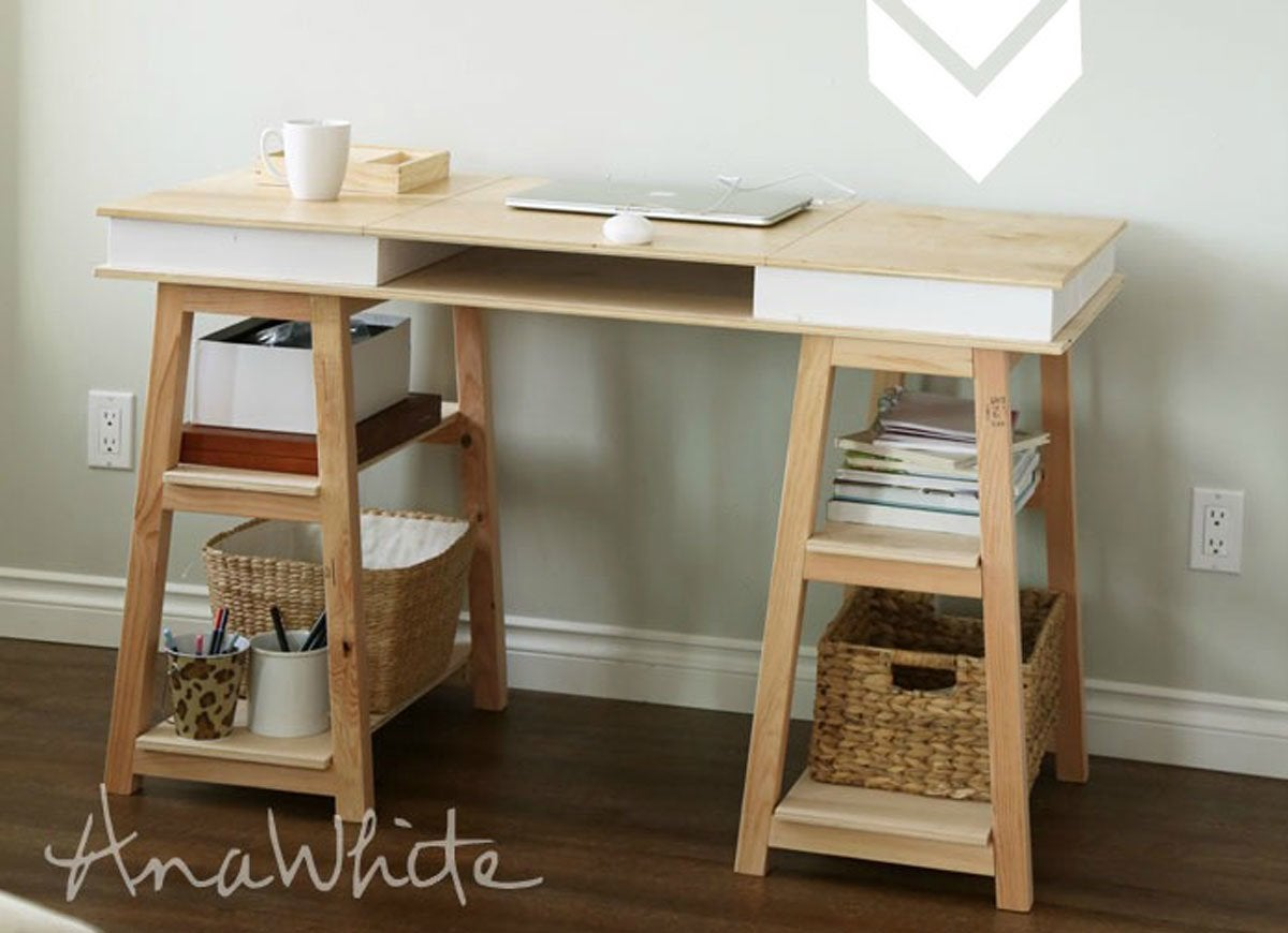 Diy Desk With Storage Diy Desk 15 Easy Ways To Build