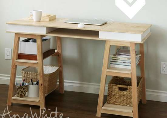 DIY Desk with Storage